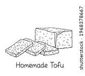 homemade tofu outline icon ...   Shutterstock .eps vector #1968378667