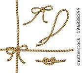 set of rope element. vector. | Shutterstock .eps vector #196838399