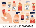 sun safety collection. heands...   Shutterstock .eps vector #1968404767