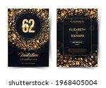 62nd years birthday vector...   Shutterstock .eps vector #1968405004