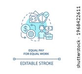 equal pay for equal work blue... | Shutterstock .eps vector #1968422611
