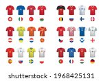 set of t shirts and flags of... | Shutterstock .eps vector #1968425131