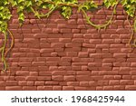 wall red brick and branches...   Shutterstock .eps vector #1968425944