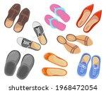different types of footwear... | Shutterstock .eps vector #1968472054