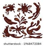 splashes of coffee  chocolate... | Shutterstock .eps vector #1968472084