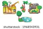 giraffes  rhinoceros in...   Shutterstock .eps vector #1968543931