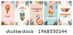 bohemian summer  set of modern... | Shutterstock .eps vector #1968550144