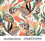 seamless pattern of a tropical... | Shutterstock .eps vector #1968555394