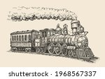 steam locomotive transport... | Shutterstock .eps vector #1968567337