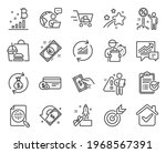 finance icons set. included... | Shutterstock .eps vector #1968567391