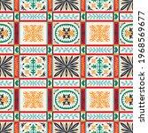 italian majolica tile....   Shutterstock .eps vector #1968569677