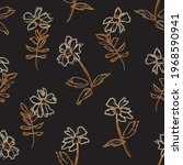 brown taupe floral botanical...   Shutterstock .eps vector #1968590941