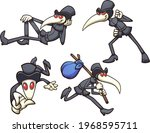 plague doctor character in... | Shutterstock .eps vector #1968595711