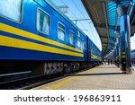 train on the modern railway... | Shutterstock . vector #196863911