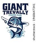 giant trevally fishing club logo | Shutterstock .eps vector #1968647341