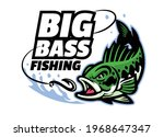 big bass fishing mascot logo | Shutterstock .eps vector #1968647347
