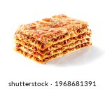 Piece Of Baked Lasagna With...