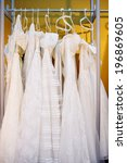 a few beautiful wedding dresses ... | Shutterstock . vector #196869605