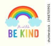it's cool to be kind   cute... | Shutterstock .eps vector #1968705901
