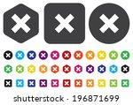 delete remove button | Shutterstock .eps vector #196871699