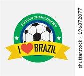 label with words  i love brazil.... | Shutterstock .eps vector #196872077