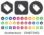 tag label button | Shutterstock .eps vector #196872401