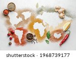 World Map Made Of Different...