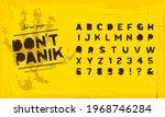 grunge scratch type font ... | Shutterstock .eps vector #1968746284