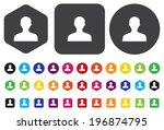 user icon vector | Shutterstock .eps vector #196874795