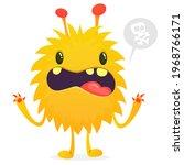 angry cartoon monster. vector...   Shutterstock .eps vector #1968766171
