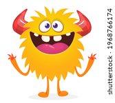 happy cartoon monster....   Shutterstock .eps vector #1968766174