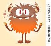 happy cartoon monster....   Shutterstock .eps vector #1968766177