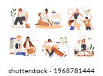set of sad unhappy women tired... | Shutterstock .eps vector #1968781444