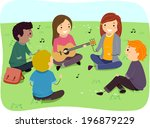 adolescent,art,boy,cartoon,choir,clip,clipart,college,cutout,drawing,eps,female,figure,friends,girl