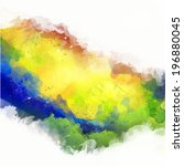 vector watercolor splash in... | Shutterstock .eps vector #196880045