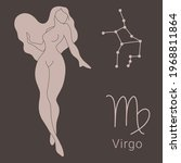 virgo zodiac sign on the hand... | Shutterstock .eps vector #1968811864