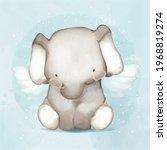 animal painting cute wildlife... | Shutterstock .eps vector #1968819274