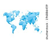 abstract world map   vector... | Shutterstock .eps vector #196886459
