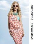 fashion portrait of sensual... | Shutterstock . vector #196890389