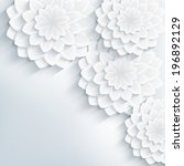 floral trendy creative... | Shutterstock . vector #196892129