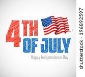 illustration of 4th of july... | Shutterstock .eps vector #196892597