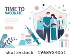 all family vaccinated against...   Shutterstock .eps vector #1968934051
