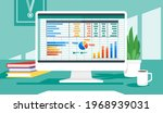 accounting or financial... | Shutterstock .eps vector #1968939031