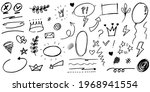 hand drawn set of curly swishes ... | Shutterstock .eps vector #1968941554