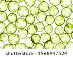 Fresh Cucumber Slicces On White ...