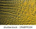 Yellow Alligator Patterned...