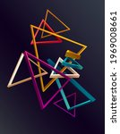 abstract 3d geometric shape of... | Shutterstock .eps vector #1969008661
