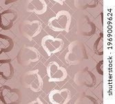 glam heart seamless pattern.... | Shutterstock .eps vector #1969009624