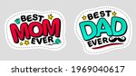 best mom ever and best dad ever.... | Shutterstock .eps vector #1969040617