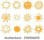 vector hand drawn sun symbol...
